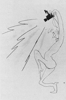 Так изобразил папарацци Федерико Феллини
