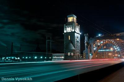 Фрагмент Большеохтинского моста